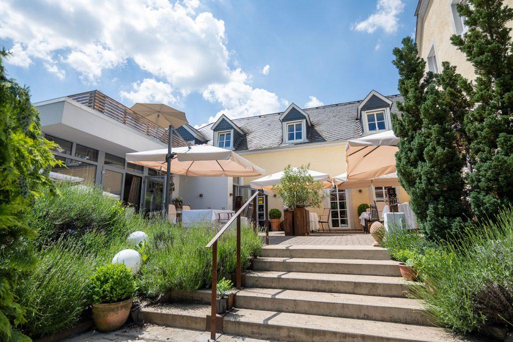 Innenhof des Wein- & Tafelhaus